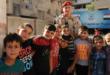 أطفال سوريون يوجهون تهنئة للجيش الروسي بأغان روسية