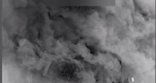 شاهد بالفيديو.. القصف الأمريكي على الحدود العراقية السورية