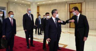 زيارة وزير الخارجية الصيني لدمشق