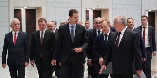 الرئيس الأسد يستقبل وفد روسي رفيع برئاسة المبعوث الخاص للرئيس بوتين
