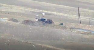 تدمير دبابة وخنادق للجيش التركي