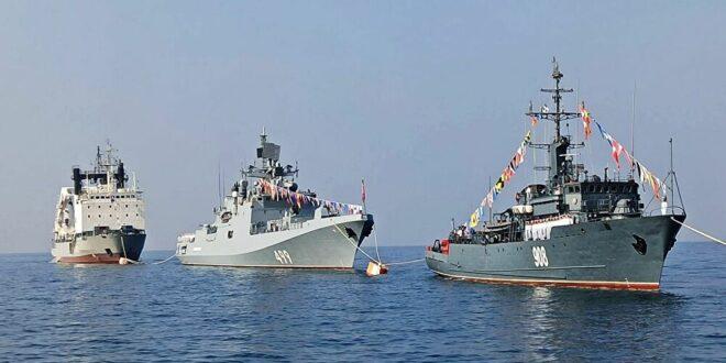 فيديو من طروس: البحرية السورية والروسية تحتفلان بذكرى تأسيس الأسطول البحري الروسي