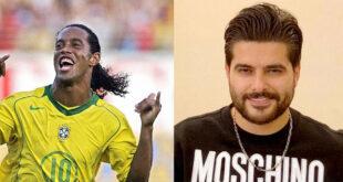 الفنان السوري ناصيف زيتون يغني للاعب البرازيلي رونالدينو