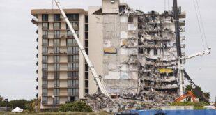 """كالأفلام..سلسلة """"صدف"""" تنقذ امرأة من كارثة مبنى ميامي المنهار"""