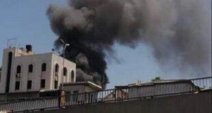 حريق ضخم وسط دمشق