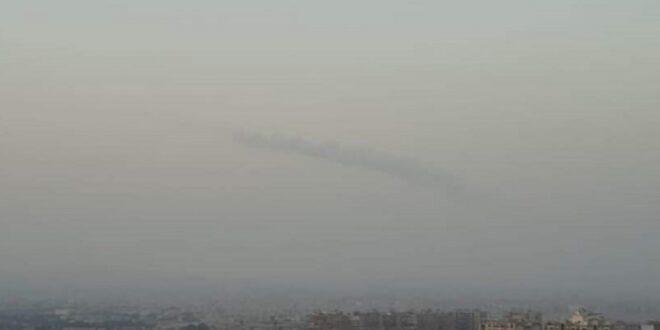 انفجار غامض وسحابة دخان في سماء دمشق