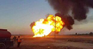 للمرة الثانية خلال أيام.... استهداف خط الغاز شرق سوريا