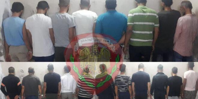 توقيف عدد من الأشخاص أثناء قيامهم بسرقة محاصيل زراعية من قرى ريف محافظة حماة