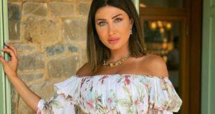 هبة نور تخطف الأنظار بفستانها