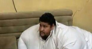نقل أسمن رجل في السعودية للمستشفى