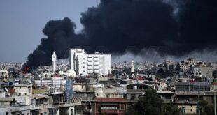 اندلاع حريق ضخم جنوب دمشق