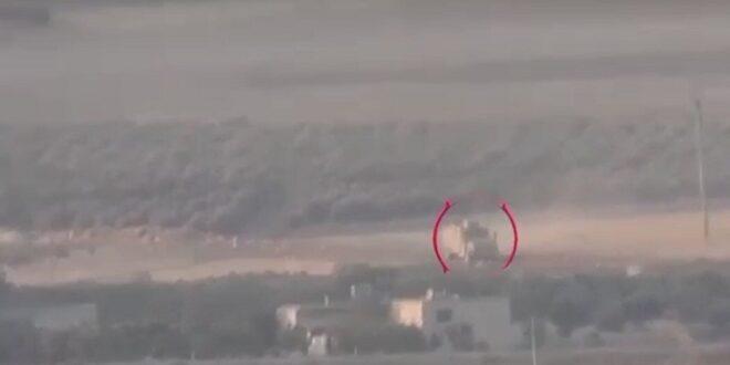 استهداف مدرعة تركية في عفرين السورية