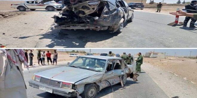 طائرة تركية تستهدف سيارتين في حلب شمال سوريا