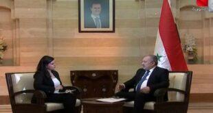 رئيس الحكومة يطل على الفضائية السورية