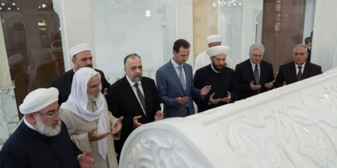 ماذا قال الرئيس الأسد للحاضرين في جامع الصحابي خالد بن الوليد ؟