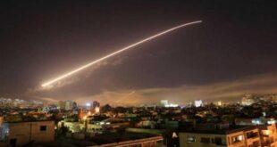 المشاهد الأولى لتصدي الدفاعات الجوية السورية للأهداف الإسرائيلية فوق حمص