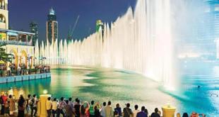 """نافورة دبي تودع السعوديين بأغنية حسين الجسمي """"بصبر على فرقاكم"""""""