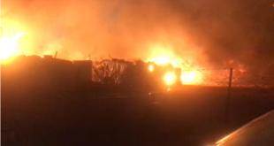 إصابات بين السوريين بعد اندلاع حريق