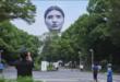 رأس عملاق يظهر في سماء طوكيو