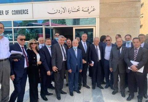الوفد التجاري السوري بعد عودته من الأردن