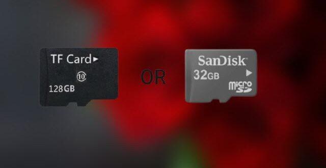 قبل شرائها تعرف على الاختلافات بين بطاقات الذاكرة TF و microSD