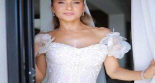 ظهور نادر لوالدة نيللي كريم الروسية في حفل زفافها