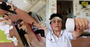 سبعينية سورية تدير نادي رياضي وتدرب النساء على اكتساب جسم رشيق