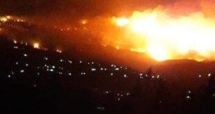 الجيش السوري يدك معاقل المسلحين بسهل الغاب رداً على تسببهم بحرائق