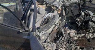 وفاة و سبعة اصابات نتيجة حادث سير على اتستراد دمشق بيروت