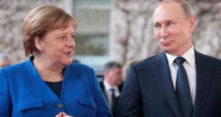 ميركل تودع بوتين في موسكو الأسبوع القادم