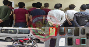 الأمن الجنائي في حلب يلقي القبض على عصابة تمتهن نشل الأجهزة الخلوية وترويج المخدرات
