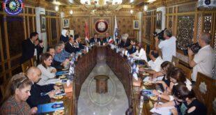 وفد برلماني فرنسي في غرفة صناعة دمشق