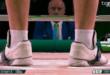 صورة حذاء البطل السوري في أولمبياد طوكيو معن اسعد تجتاح السوشيل ميديا