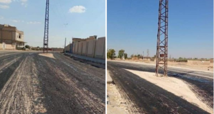 بعد عمود حمص برج الرقة في وسط الطريق