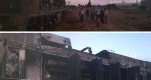 حريق ناتج عن ماس كهربائي في مرفأ طرطوس