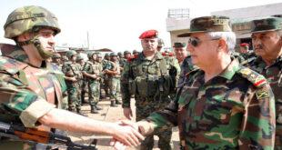 درعا البلد.. وزير الدفاع السوري في الأردن