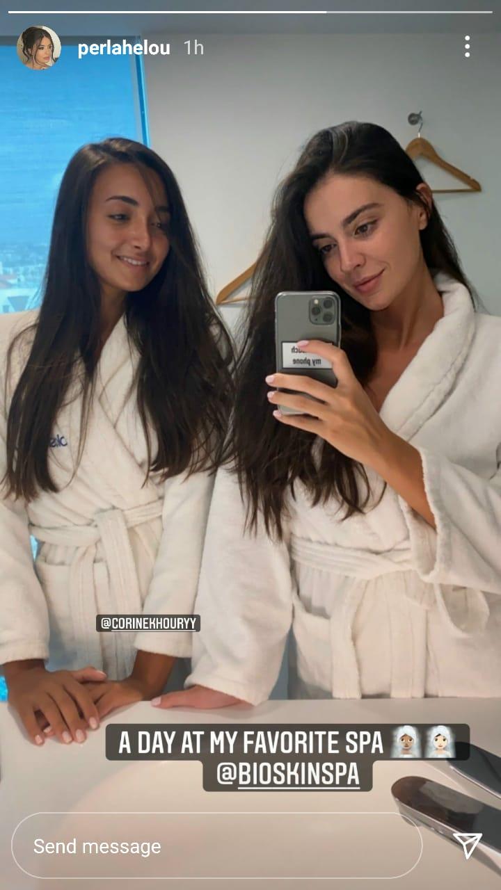 """ملكة جمال لبنان بـ""""روب الاستحمام"""