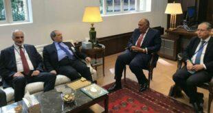 لقاء بين وزير الخارجية المصري ونظيره السوري