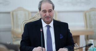 المقداد: لقاء مرتقب مع لافروف لبحث العلاقات الثنائية والوضع في المنطقة