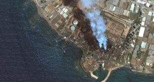 قمر روسي يوثق حجم التسرب النفطي قبالة سواحل سوريا