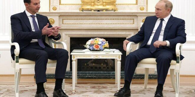 الكرملين: بوتين التقى الأسد قبل اتخاذه قرارا بدخول العزل الذاتي