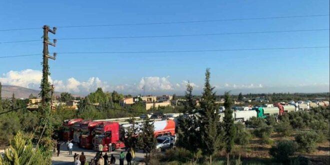 عبر سوريا.. قوافل الصهاريج المحملة بالمازوت الإيراني تدخل لبنان