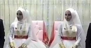 """فيديو: تركيا تشهد حفل زفاف """"نادر"""".. """"عرس التوائم"""""""