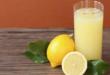 عصير وافرة من حبة ليمون واحدة