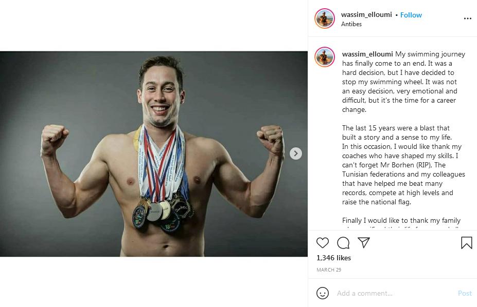 بطل العرب وأفريقيا في السباحة يصبح