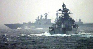 على بعد 60 مترا.. سفينة روسية تعترض مدمرة أمريكية