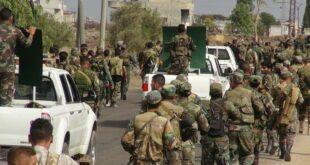 الجيش السوري يبدأ تمشيط بلدة صيدا ومحيطها بريف درعا الشرقي