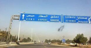 إصابة 10 أشخاص جراء تدهور فان على طريق حمص دمشق