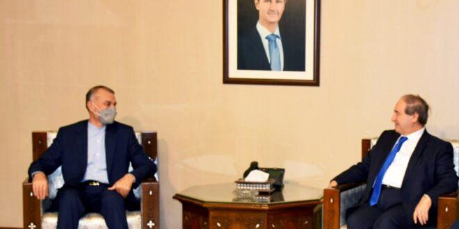 وزير الخارجية الإيراني يحط في دمشق غداً