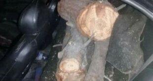 بكمين ليلي.. حجز سيارة و 3 دراجات نارية محملة بـ أخشاب حراجية في موقعين بـ حمص
